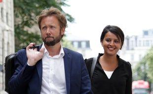 Boris Vallaud et Najat Vallaud-Belkacem le 24 juin 2017 à Paris.