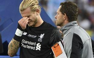 Loris Karius en pleurs après la finale perdue.