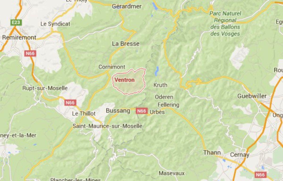 Un jeune homme est décédé après avoir inhalé du gaz hilarant dans les Vosges. – Capture d'écran - Google Maps