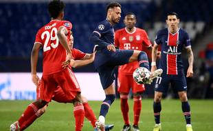 Neymar s'est bien amusé lors du quart de finale retour de la Ligue des champions entre le PSG et le Bayern Munich, le 13 avril 2021.