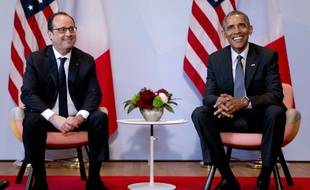 François Hollande et Barack Obama lors du sommet du G7 en Allemagne, le 8 juin 2015.
