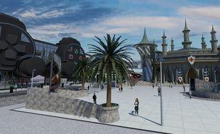 Une ébauche de ce que pourrait être le parc de jeux vidéo du Gard.