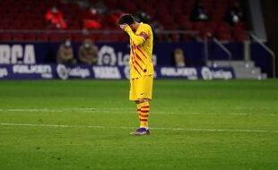 Lionel Messi lors du match Atlético Madrid-Barça, le 21 novembre 2020.