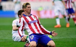 Fernando Torres avec l'Atletico, le 25 avril 2015.