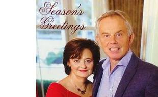 Capture d'écran de la carte de voeux 2014 de Tony et Cherie Blair.