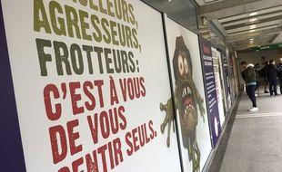 La campagne lancée par Tisséo pour culpabiliser les harceleurs du réseau.