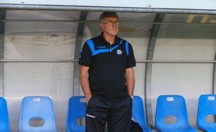 A cause d'un but d'Amiens 3 secondes avant le coup de sifflet final, le Racing club de Strasbourg de Jacky Duguépéroux n'a pas obtenu sa montée en Ligue 2. (Archives)
