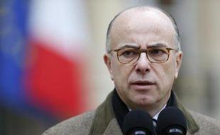 Le ministre de l'Intérieur Bernard Cazeneuve, le 10 janvier 2015 dans la cour de l'Elysée à Paris