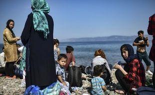 Des migrants afghans en Grèce en août 2018.