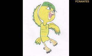La mascotte retenue par le FCN ressemble étrangement à Nico du film Rio.
