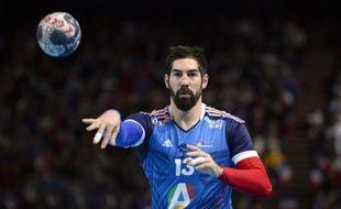 Le joueur de l'équipe de France de handball Nikola Karabatic, lors d'un match de préparation à l'Euro 2014, le 5 janvier 2014 à Bercy