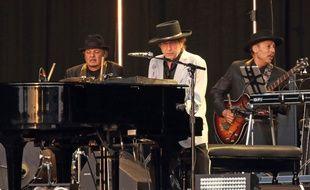 Le chanteur Bob Dylan en concert à Hyde Park en 2019