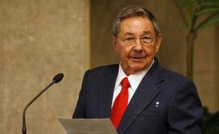 Le président cubain Raul Castro à la Havane le 17 février 2009.