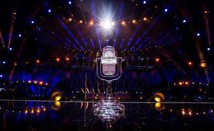 Le trophée du concours Eurovision de la chanson.