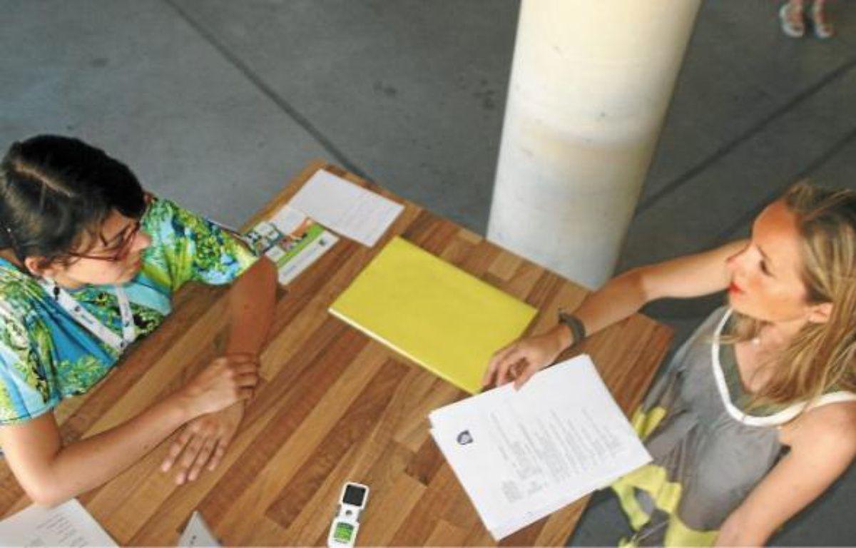 Ce sont les recruteurs qui sont allés à la rencontre des demandeurs d'emplois et non l'inverse. –  c. cstieau/20MINUTES