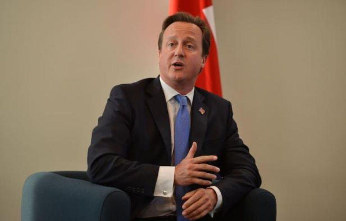 """Le premier ministre David Cameron a estimé à Londres que la Banque centrale européenne (BCE), telle qu'elle a agi jeudi, n'a jamais été """"aussi proche"""" de ce que souhaite le gouvernement britannique en la matière depuis très longtemps. – Ben Stansall afp.com"""