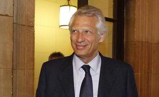 Dominique de Villepin au tribunal pour le procès Clearstream, le 23 mai 2011, à Paris.