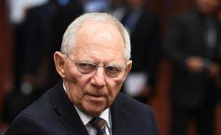 Le ministre allemand des Finances, Wolfgang Schäuble, à Bruxelles, le 16 février 2015