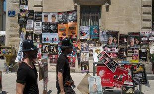 Les rues d'Avignon lors du festival de théâtre. (Archives)