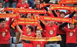 Les supporters du club chinois du Guangzhou Evergrande, en décembre 2015, à Osaka.