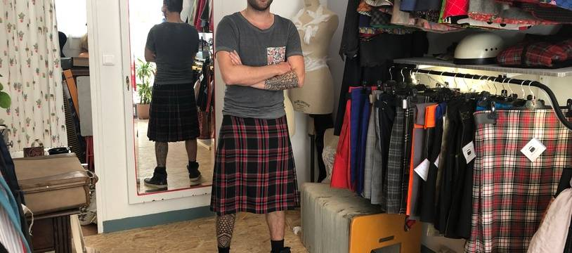 Romain Granger est le président de l'association Hommes en jupe