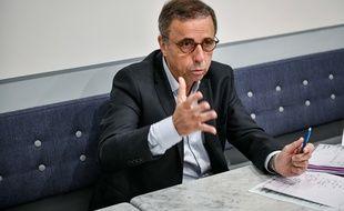 Pierre Hurmic, le 10 juin 2020, à son local de campagne, rue des Trois-Conils, à Bordeaux.