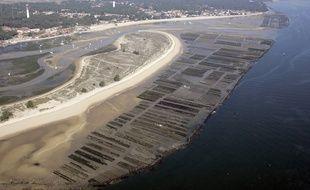 Vue aérienne du Cap-Ferret, sur le Bassin d'Arcachon.