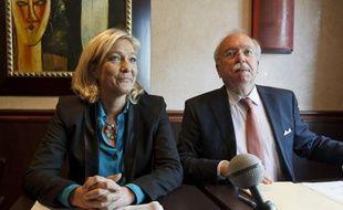 Marine Le Pen, présidente du Front national, avec Wallerand de Saint-Just, le 26 juin 2013 à Paris.