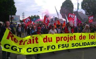 La manifestation intersyndicale du 26 mai.