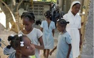 A l'orphelinat de la Croix Glorieuse, la semaine dernière à Port-au-Prince.