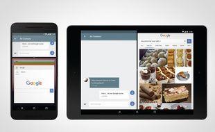 Le multitasking fenêtré de la version «Developer Preview» d'Android N.
