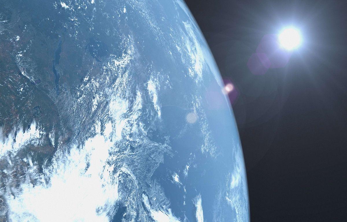 La Terre vue d'un satellite. Illustration. – PureStock - Sipa