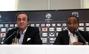 Jean-Louis Triaud et Jean Tigana à Bordeaux, le 25 mai 2010