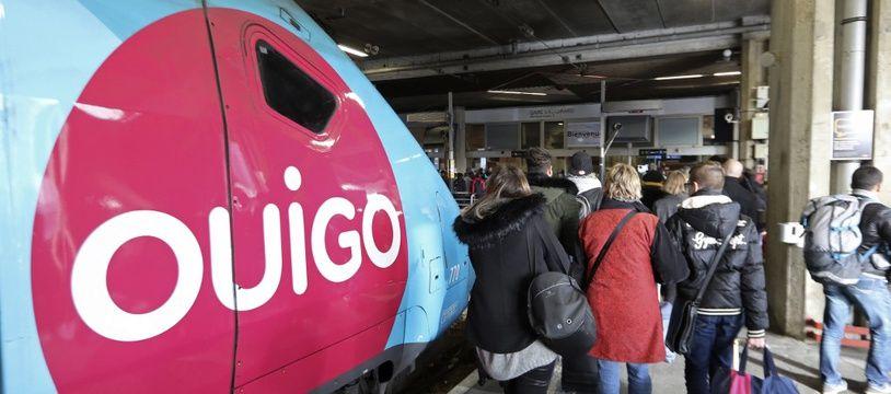 Un TGV Ouigo en garde de Paris-Montparnasse, en 2017.