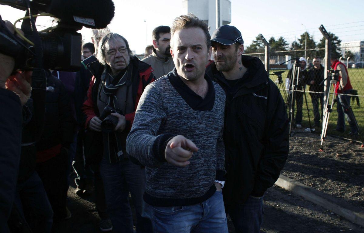 Mickaël Wamen, de la CGT Goodyear, le 7 janvier 2014 – Thibault Camus/AP/SIPA