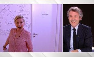Anne-Elisabeth Lemoine en duplex dans Quotidien animé par Yann Barthès, le 6 avril 2020.