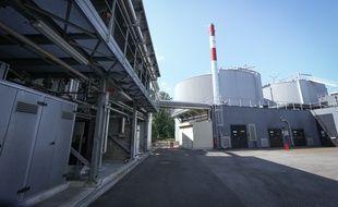 02 septembre 2014. Les deux digesteurs permettant la fabrication du biogaz de la station d'épuration de Strasbourg