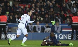 Le capitaine et attaquant du TFC Martin Braithwaite lors du match de Ligue 1 contre le PSG, le 19 février 2017 au Parc des Princes de Paris.