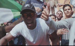 Le rappeur Elams dans son clip « Billet ».