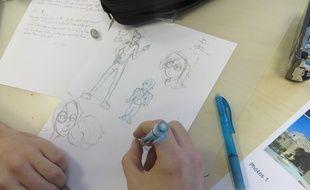 A l'école internationale de manga de Toulouse qui a ouvert ses portes à la rentrée 2016.
