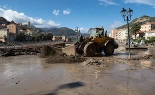 Les dégâts causés par les intempéries à Vintimille (Italie)