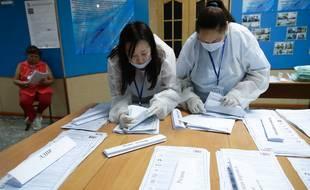 Bureau de vote à Kyzyl, en Russie le 19 septembre 2021/