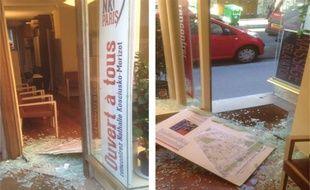 La permanence des élus UMP du 14e arrondissement a été vandalisée dans la nuit de lundi à mardi.