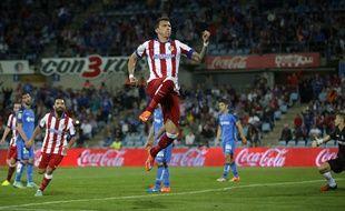 Mario Mandzukic lors de la rencontre entre Getafe et l'Atletico Madrid le 26 octobre 2014.