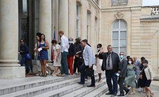 Les membres de la Convention climat, le 29 juin 2020 à l'Elysée.