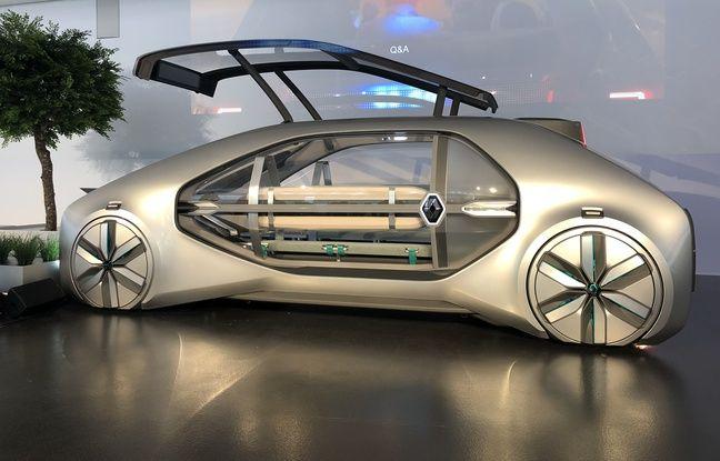 Comme une capsule transparente posée sur une base électrique.