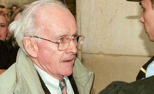 Robert Faurisson, le 27 février 1998, à Paris