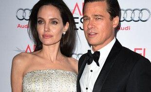 Angelina Jolie et Brad Pitt en 2015, avant leur divorce.