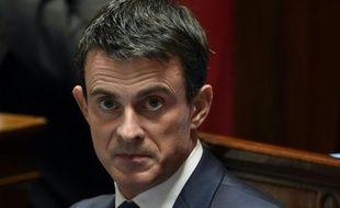 Le Premier ministre Manuel Valls à l'Assemblée nationale le 24 novembre 2015