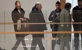 L'ancien PDG de France Telecom, Didier Lombard, lors de son arrivée au tribunal, le 6 mai 2019 à Paris, où il était jugé pour